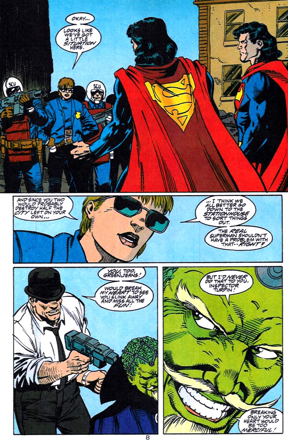 Read online Adventures of Superman (1987) comic -  Issue #519 - 9