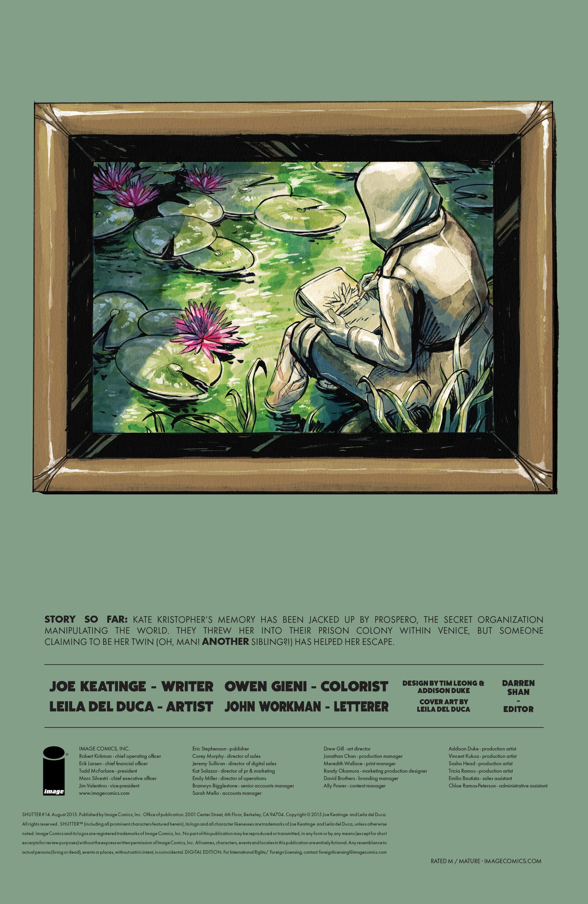 Read online Shutter comic -  Issue #14 - 30