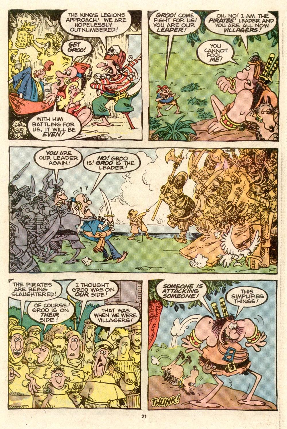 Read online Sergio Aragonés Groo the Wanderer comic -  Issue #33 - 22