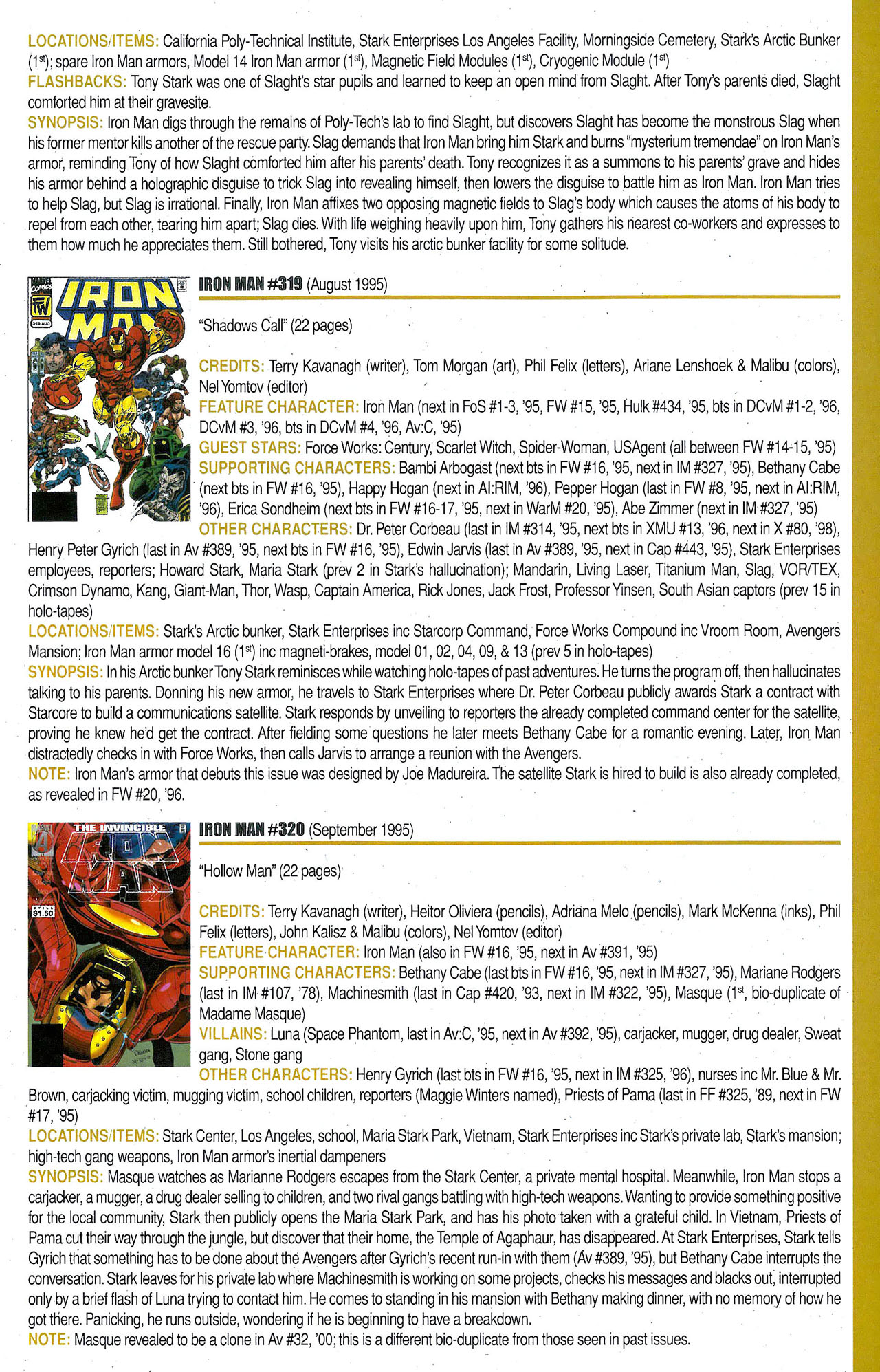 Read online Official Index to the Marvel Universe comic -  Issue #9 - 33
