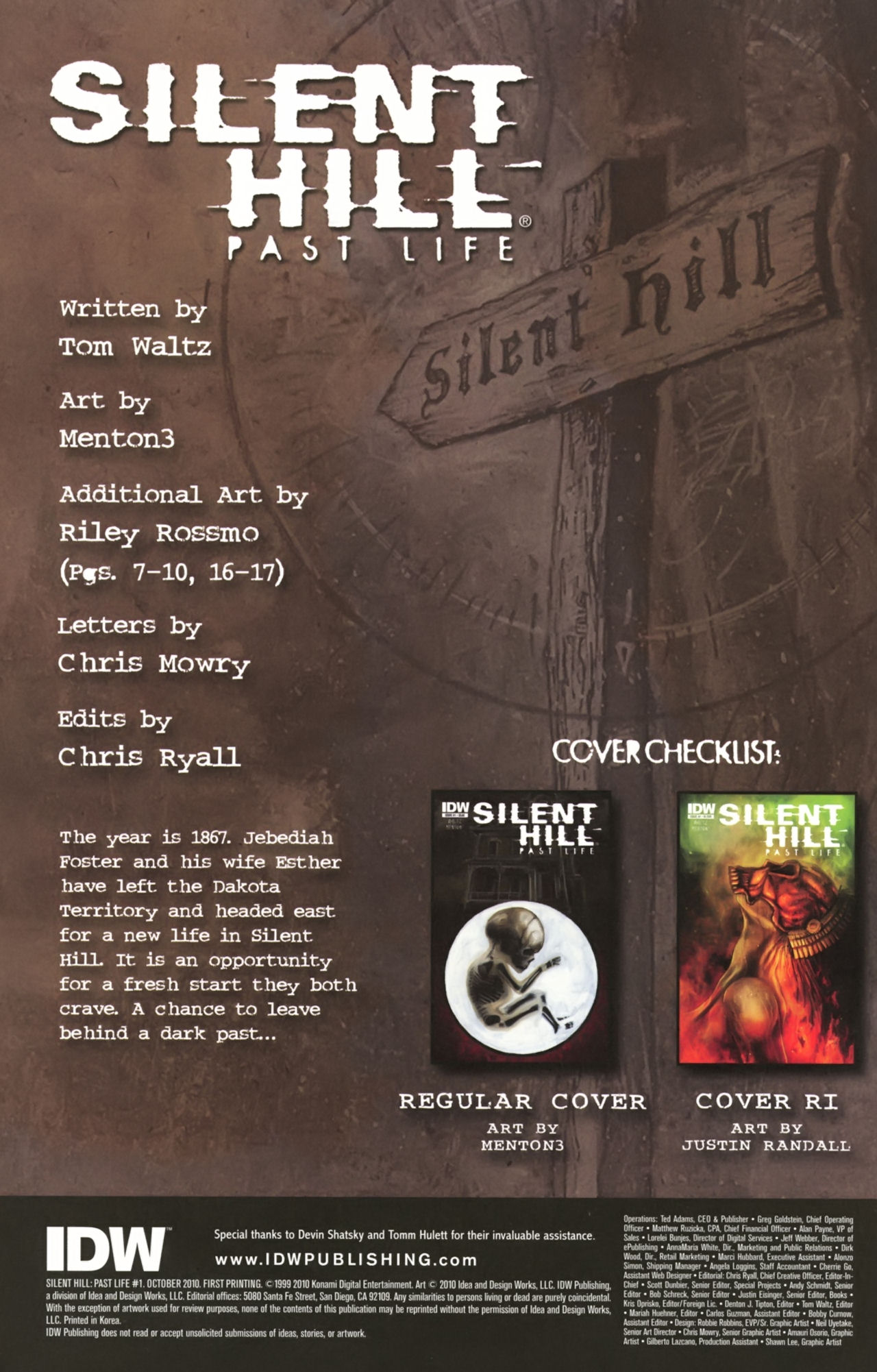 Read online Silent Hill: Past Life comic -  Issue #1 - 3