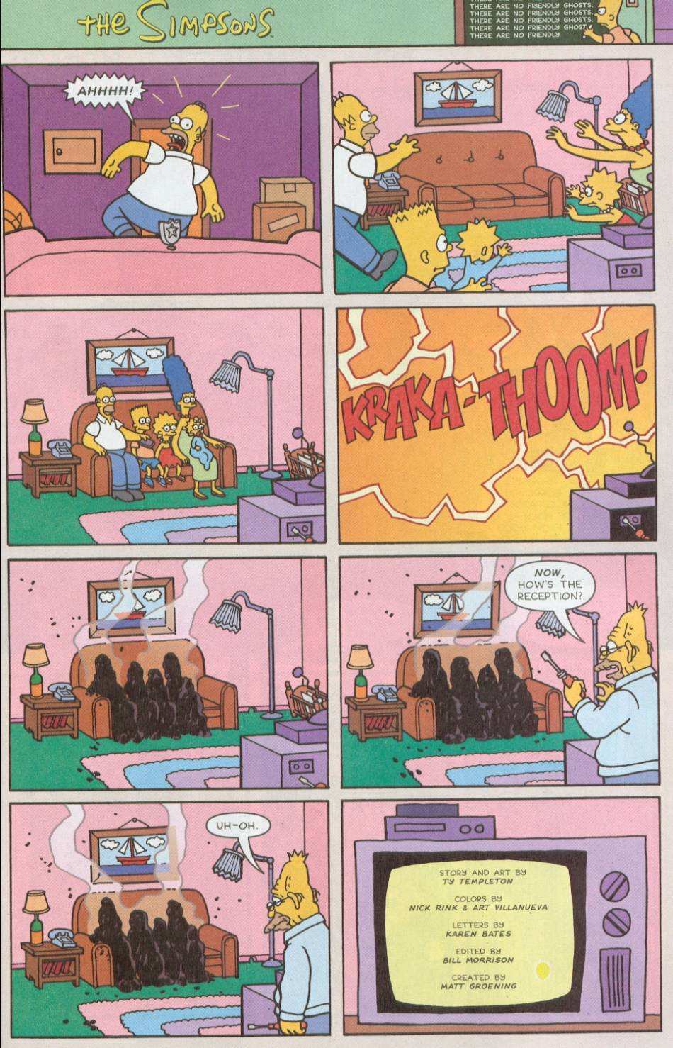 Read online Treehouse of Horror comic -  Issue #8 - 2