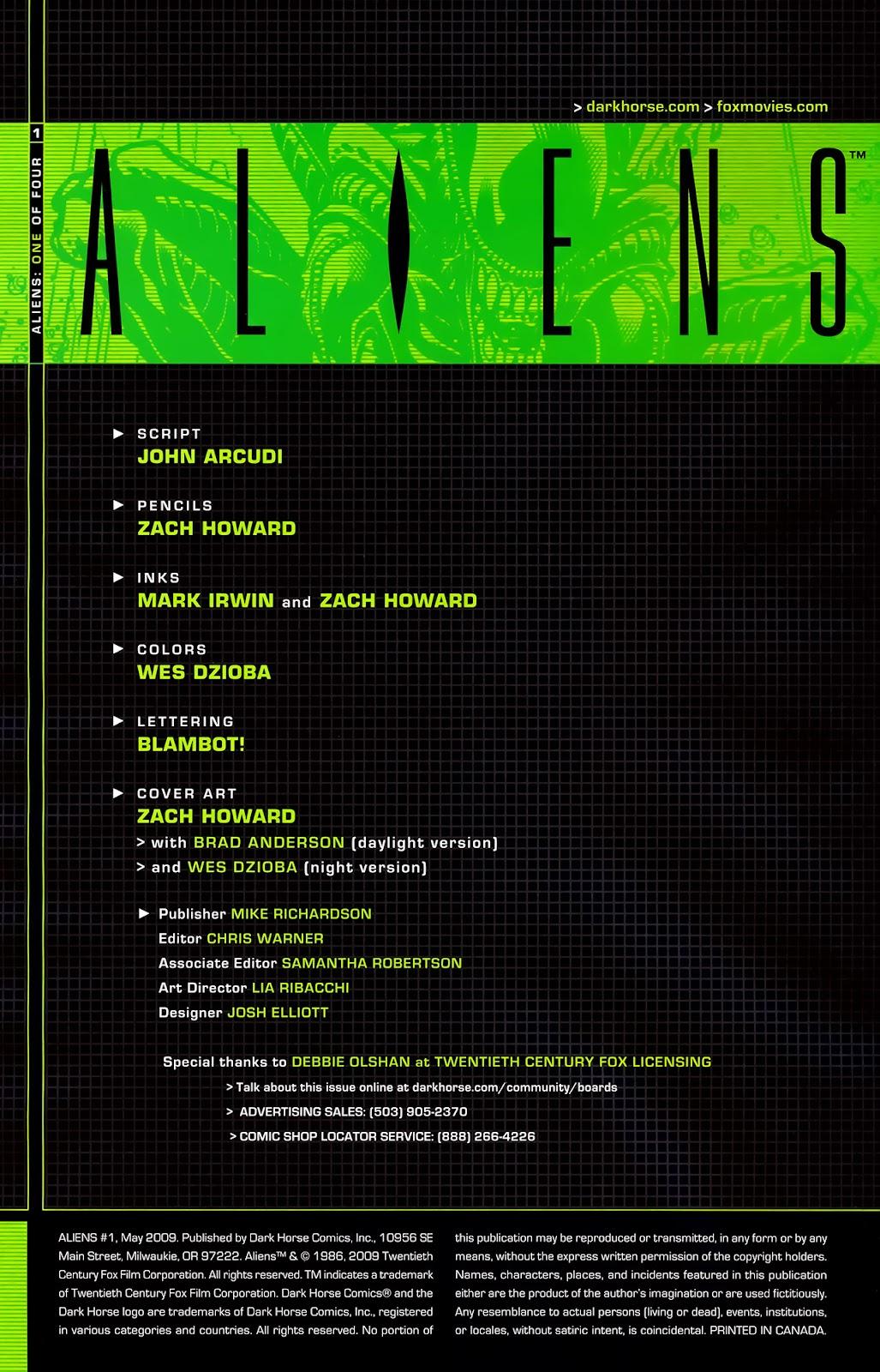 Read online Aliens (2009) comic -  Issue #1 - 3