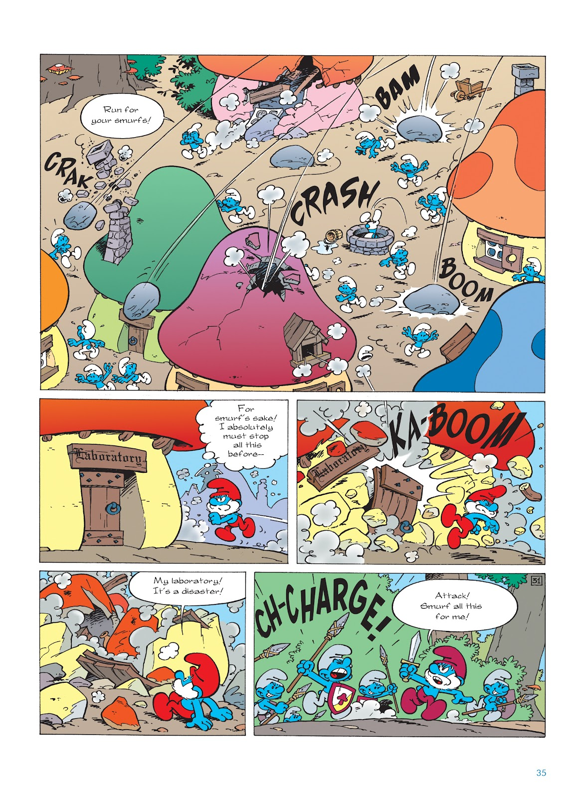 Read online The Smurfs comic -  Issue #22 - 36