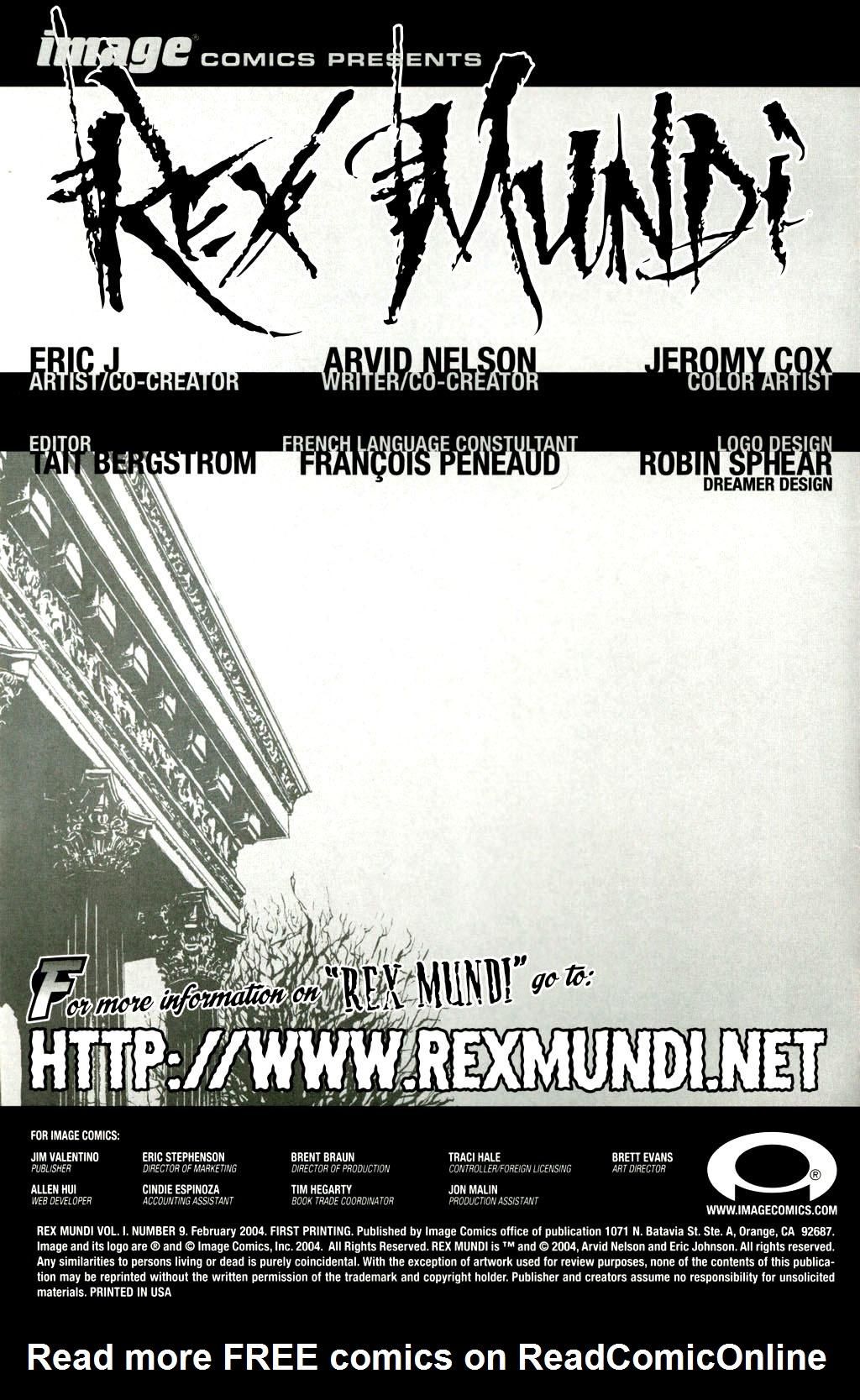Read online Rex Mundi comic -  Issue #9 - 2