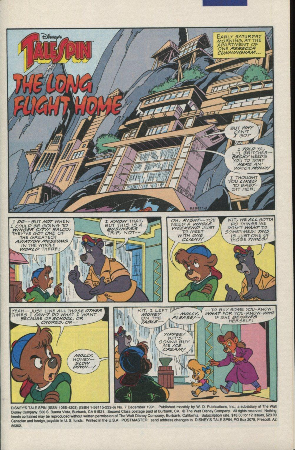 Read online Disney's Tale Spin comic -  Issue #7 - 2