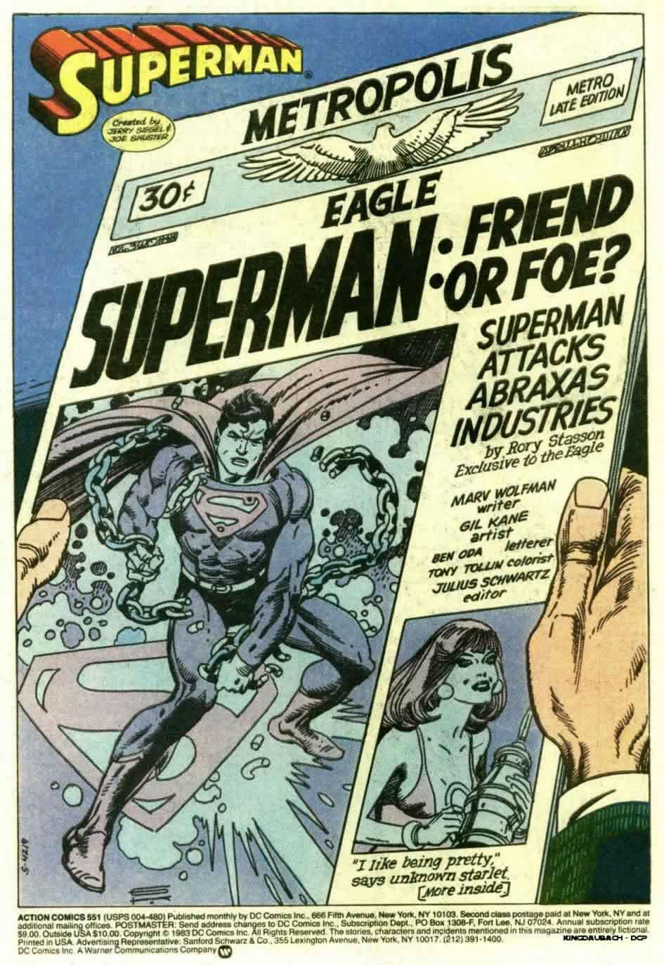 Action Comics (1938) 551 Page 2