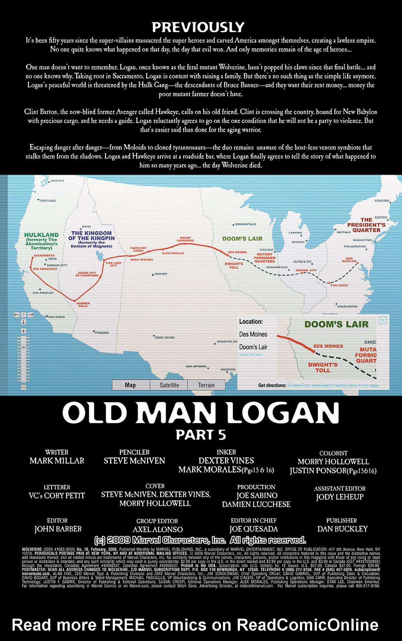 Read online Wolverine: Old Man Logan comic -  Issue # Full - 93