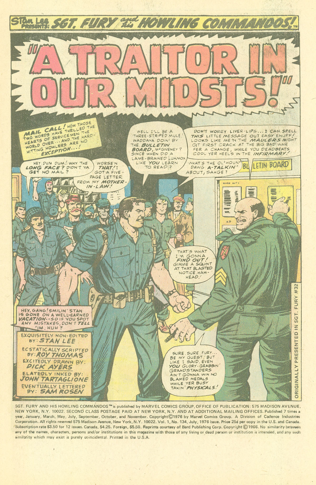 Read online Sgt. Fury comic -  Issue #134 - 3