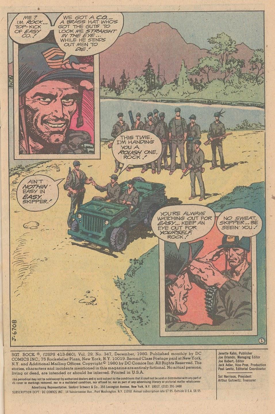 Read online Sgt. Rock comic -  Issue #347 - 2