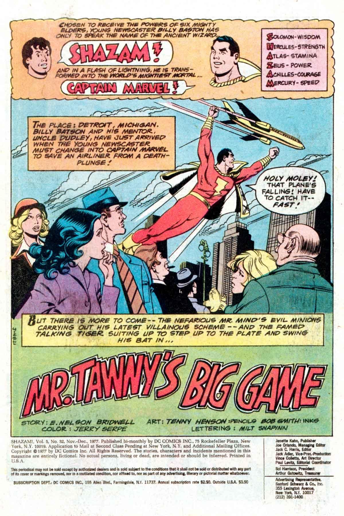 Read online Shazam! (1973) comic -  Issue #32 - 2