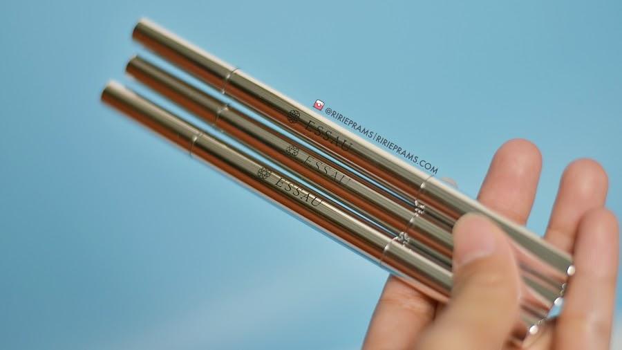 review pensil alis lokal essau beaute Jigsaw Eyebrow Pencil