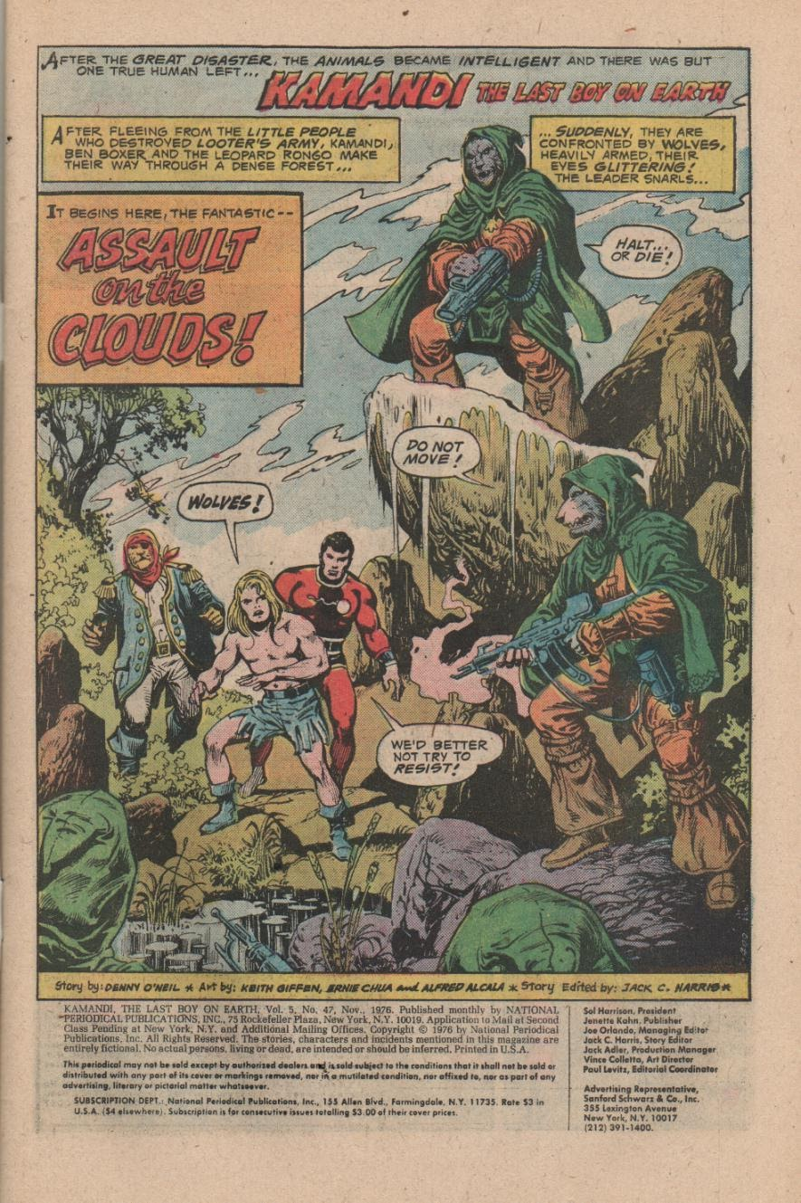 Kamandi, The Last Boy On Earth issue 47 - Page 3