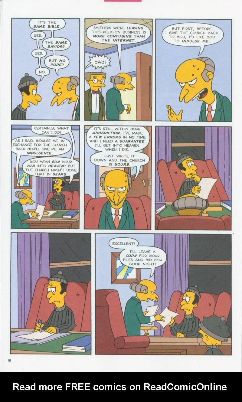 Read online Simpsons Comics comic -  Issue #69 - 19