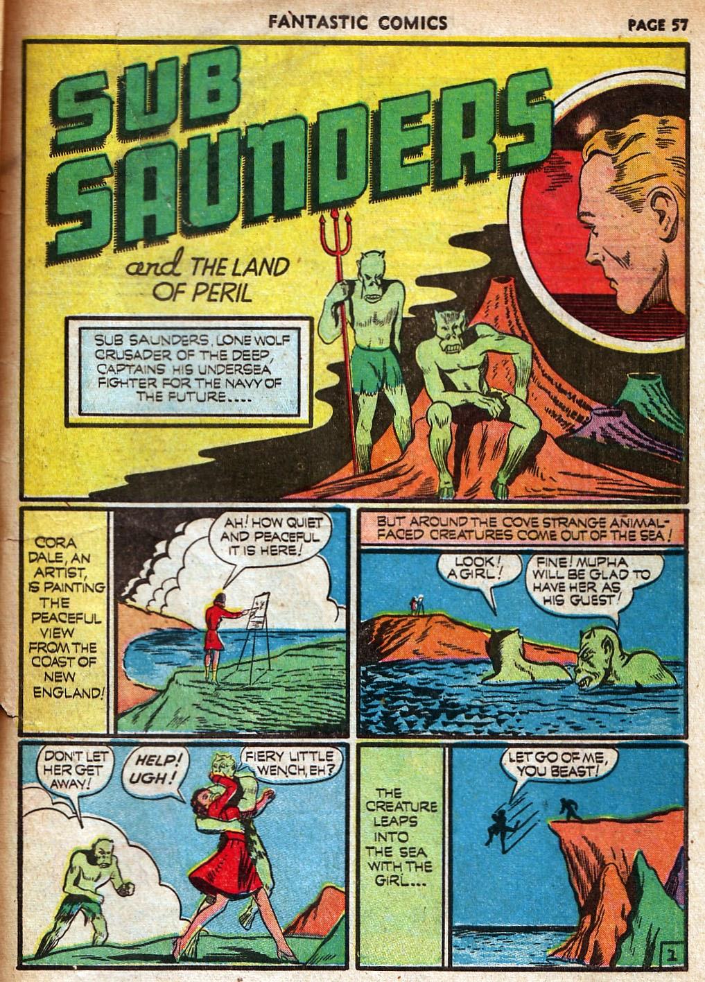 Read online Fantastic Comics comic -  Issue #18 - 59