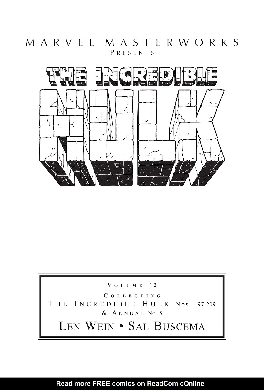 Read online Marvel Masterworks: The Incredible Hulk comic -  Issue # TPB 12 (Part 1) - 2