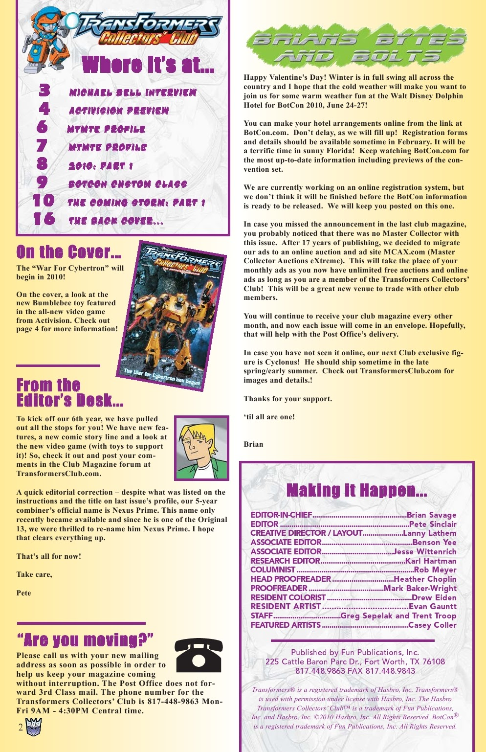 Read online Transformers: Collectors' Club comic -  Issue #31 - 2