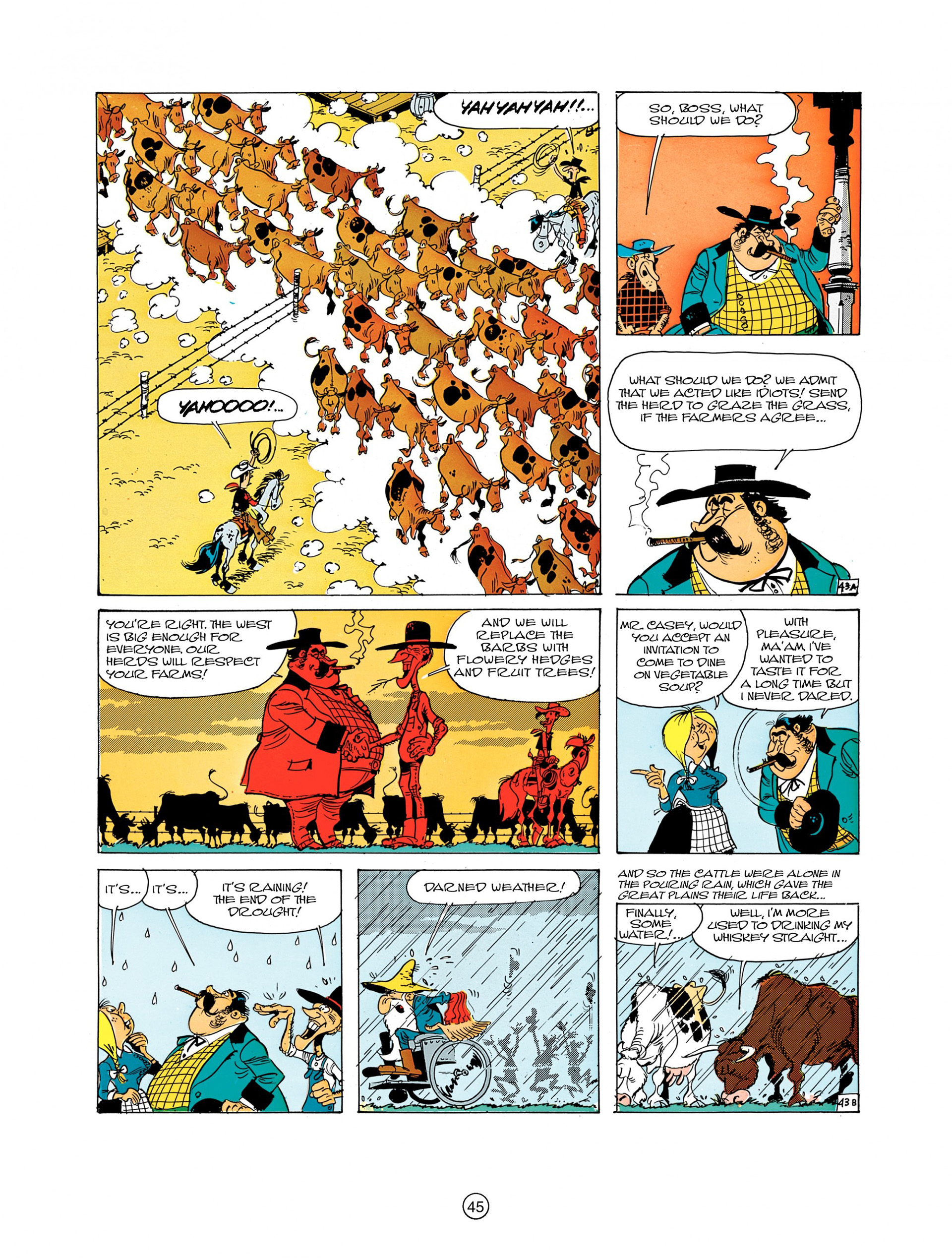 Read online A Lucky Luke Adventure comic -  Issue #7 - 45