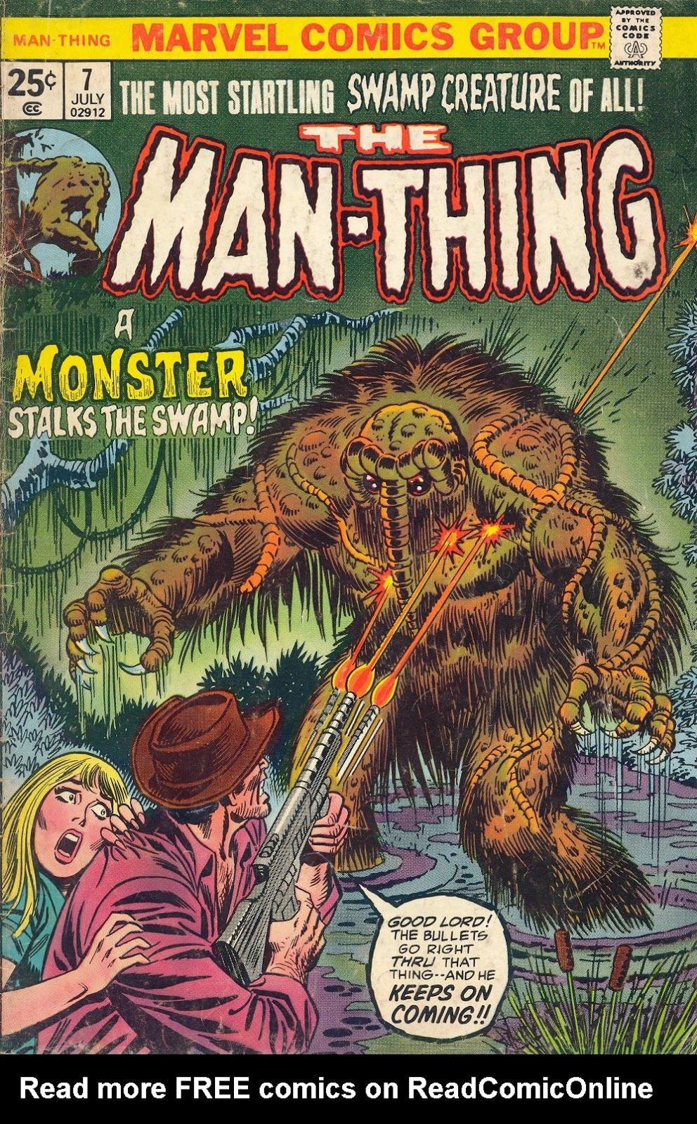 Man-Thing (1974) issue 7 - Page 1