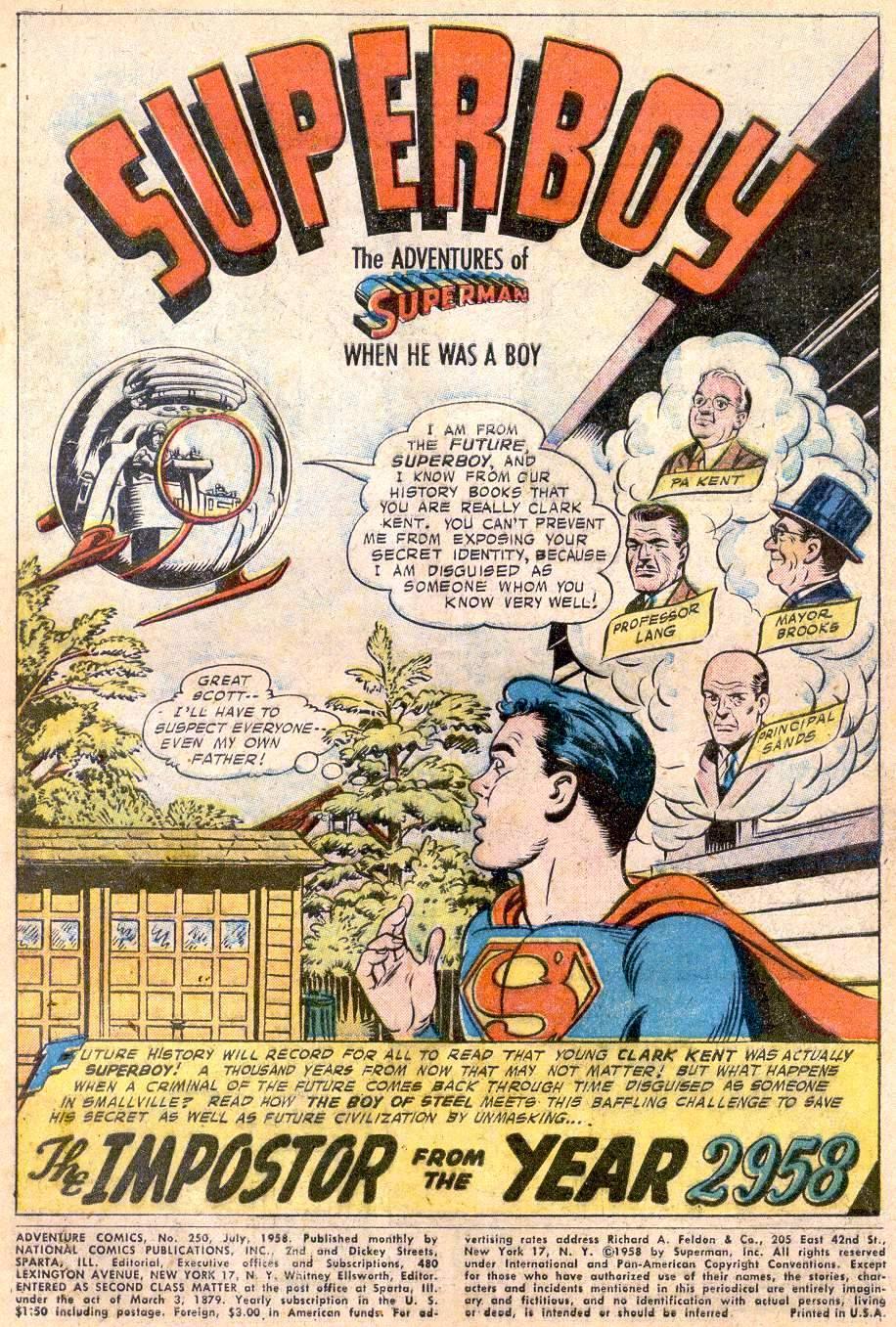 Read online Adventure Comics (1938) comic -  Issue #250 - 3
