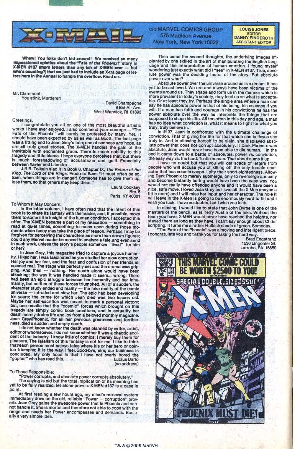 Read online Uncanny X-Men (1963) comic -  Issue # _Annual 4 - 50