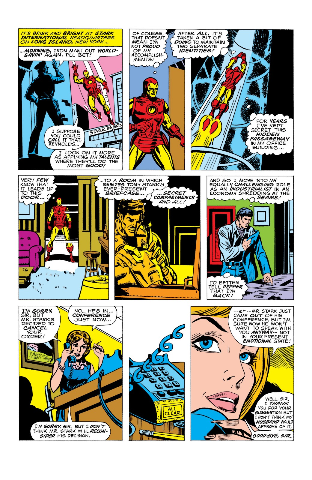 Read online Marvel Masterworks: The Invincible Iron Man comic -  Issue # TPB 10 (Part 2) - 19