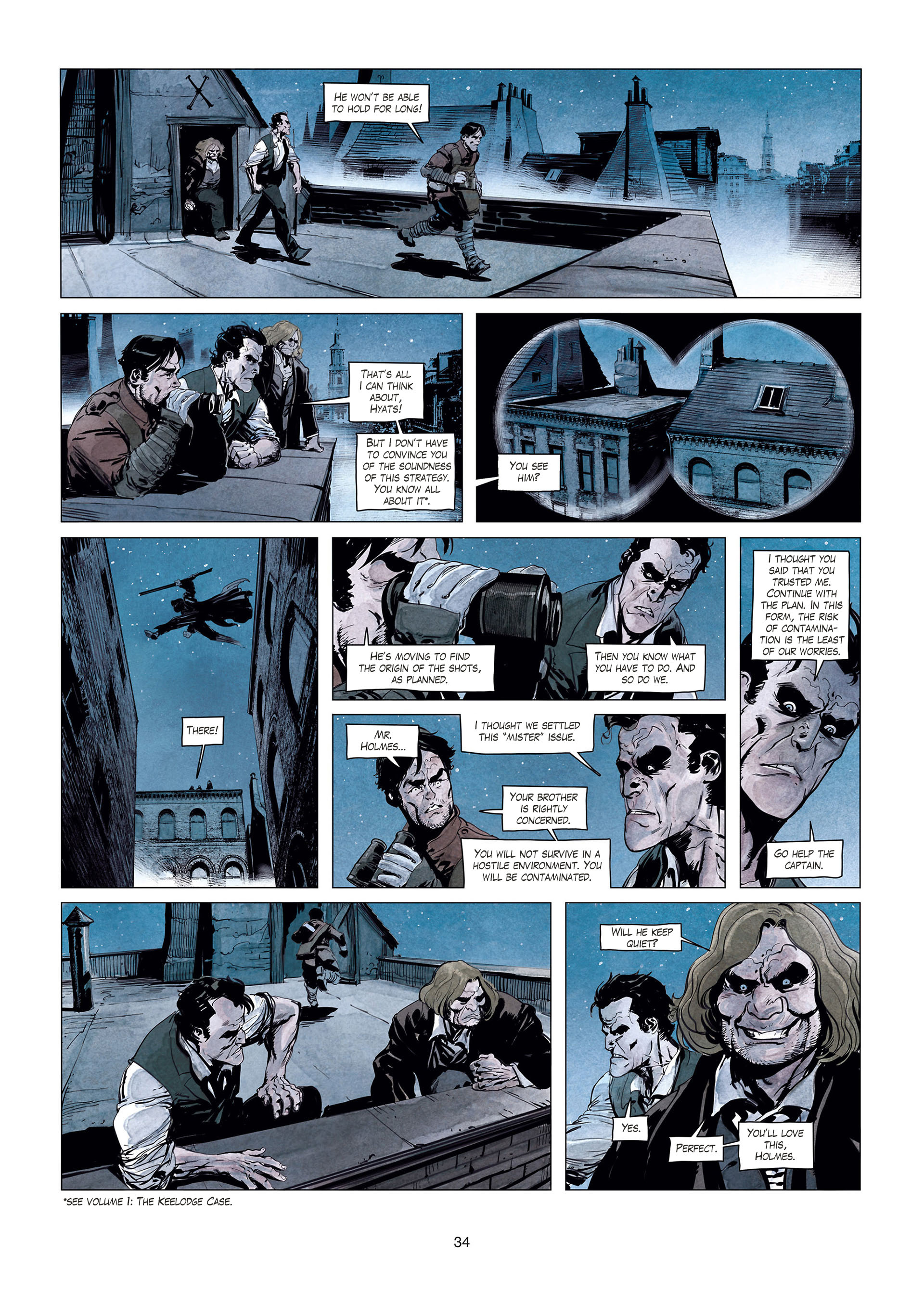 Read online Sherlock Holmes Society Tome 4 : Contamination comic -  Issue # Full - 34