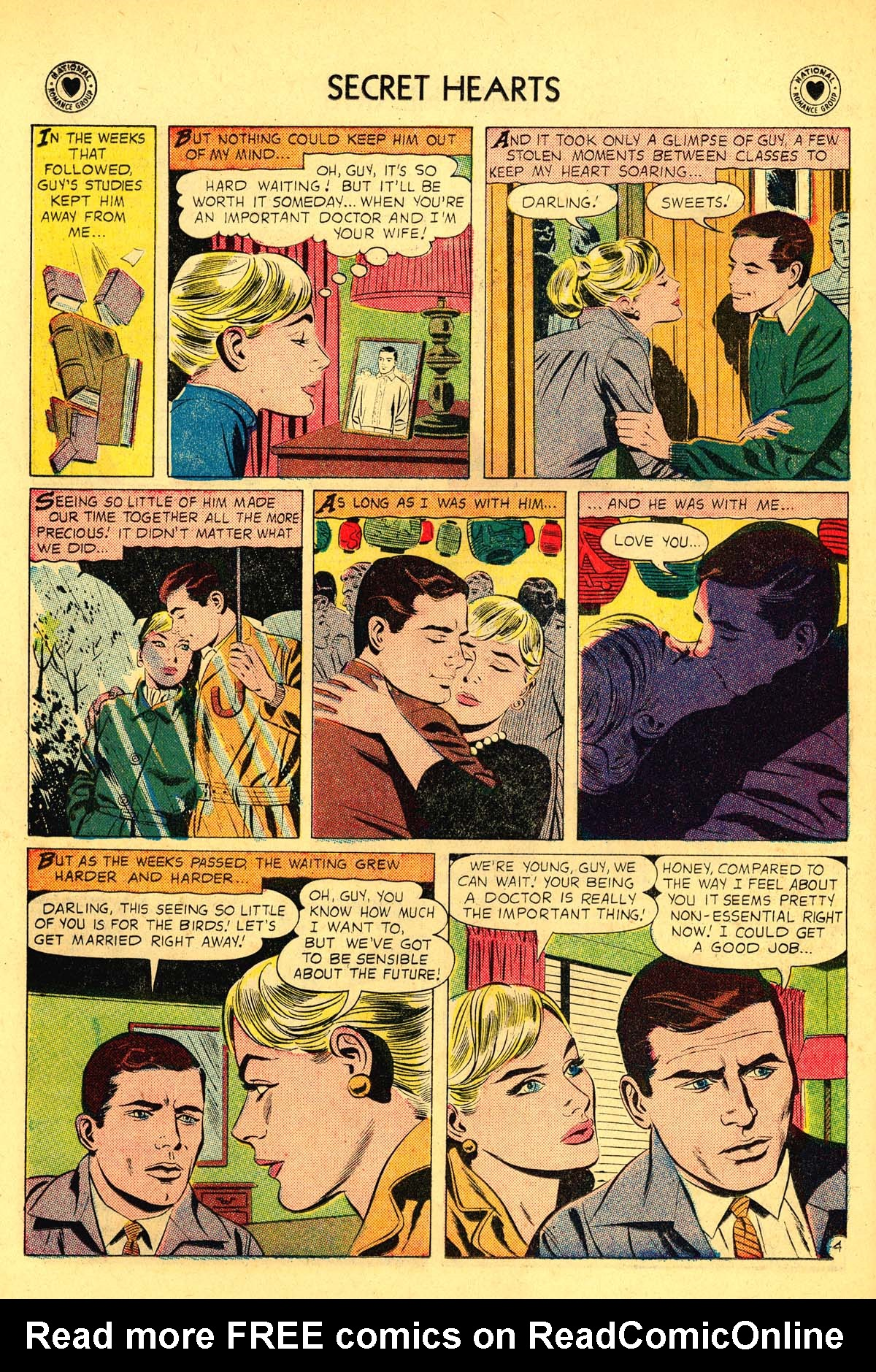 Read online Secret Hearts comic -  Issue #54 - 6