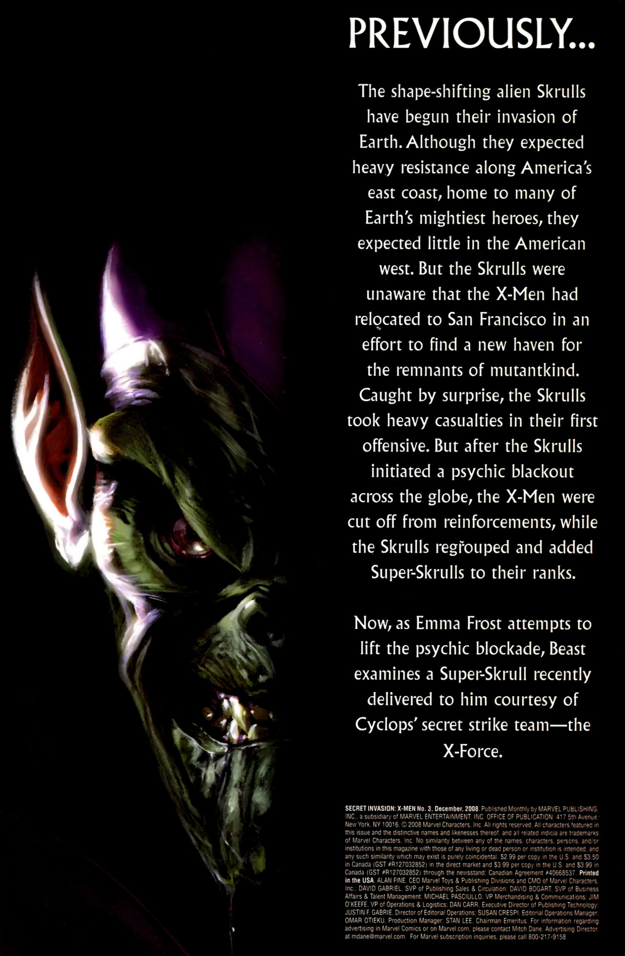 Read online Secret Invasion: X-Men comic -  Issue #3 - 2