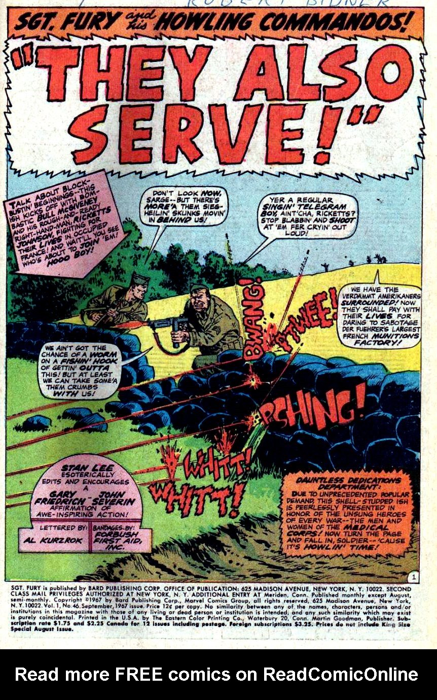 Read online Sgt. Fury comic -  Issue #46 - 3