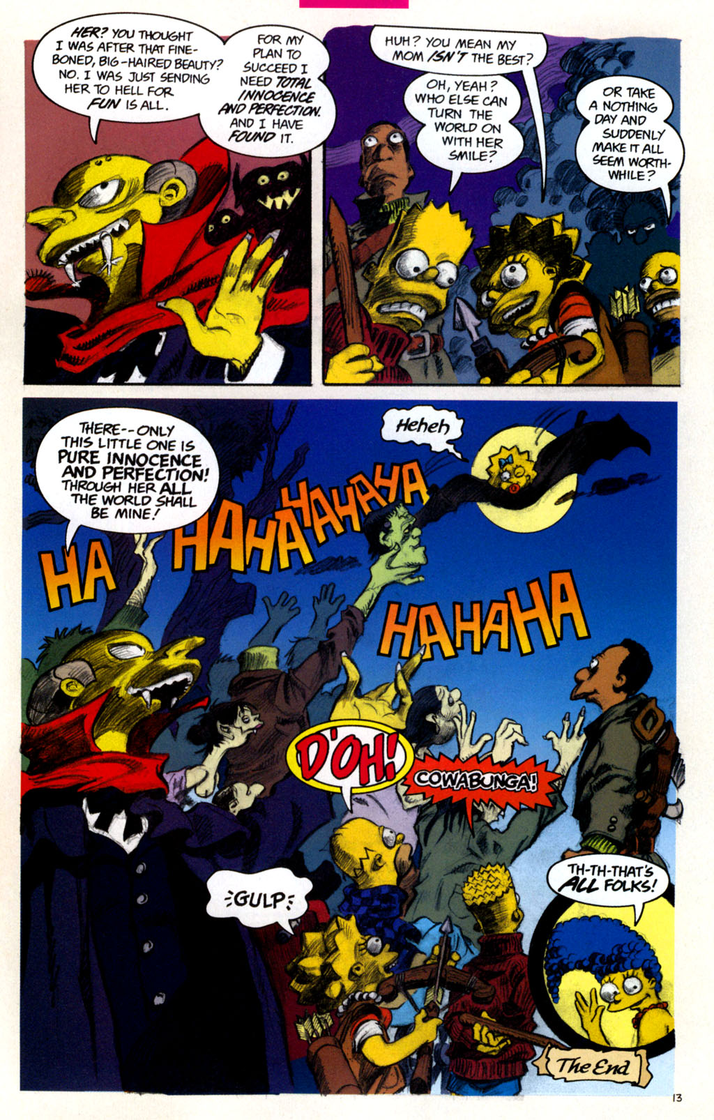 Read online Treehouse of Horror comic -  Issue #11 - 16
