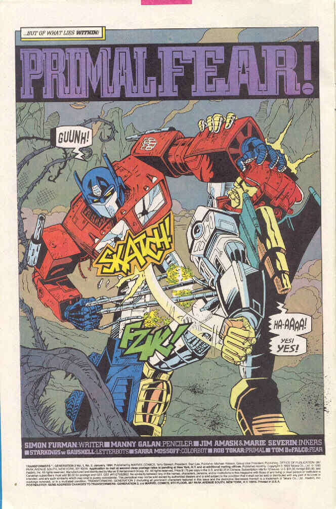 Read online Transformers: Generation 2 comic -  Issue #3 - 4