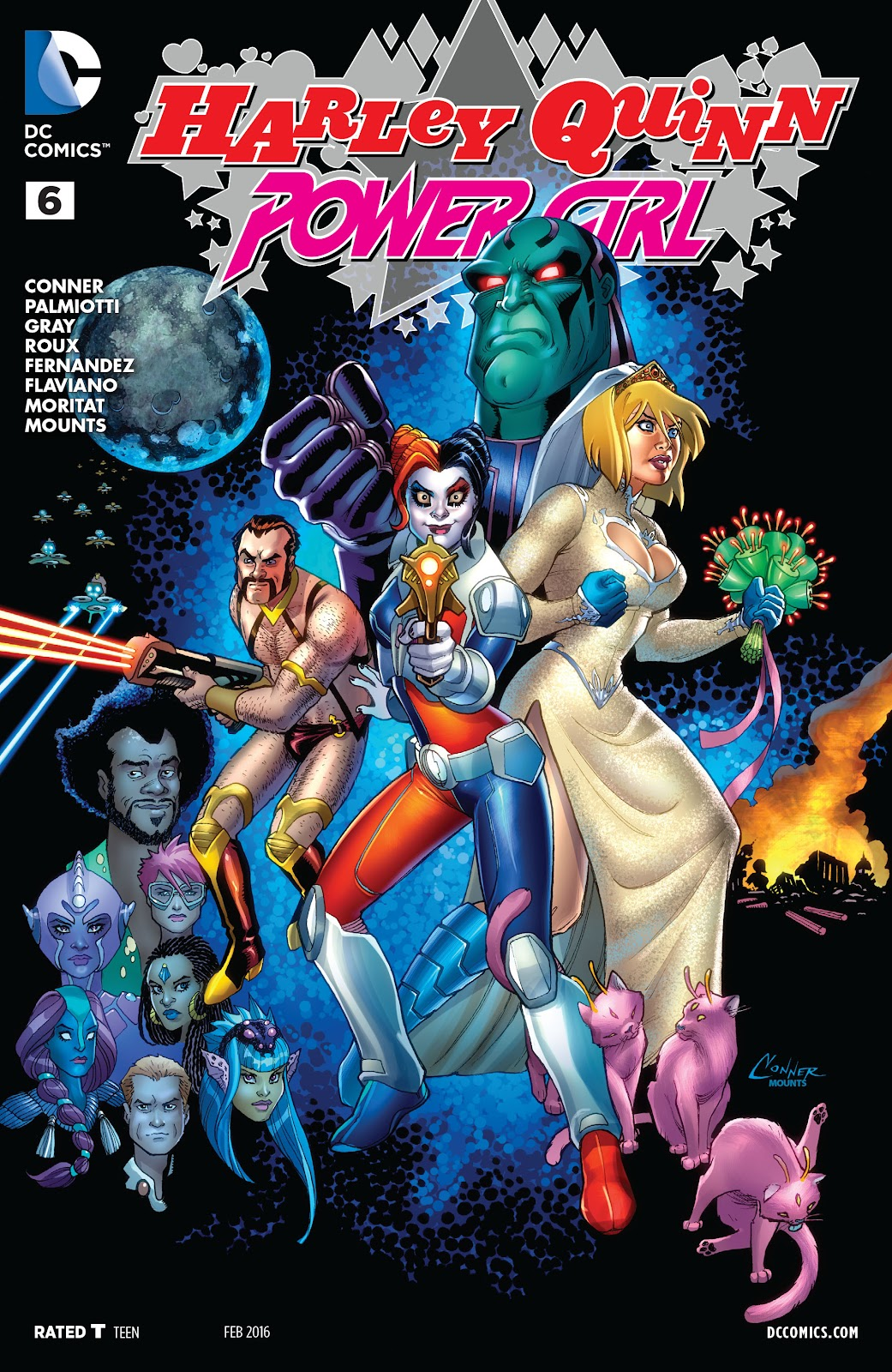 Harley Quinn and Power Girl 6 Page 1