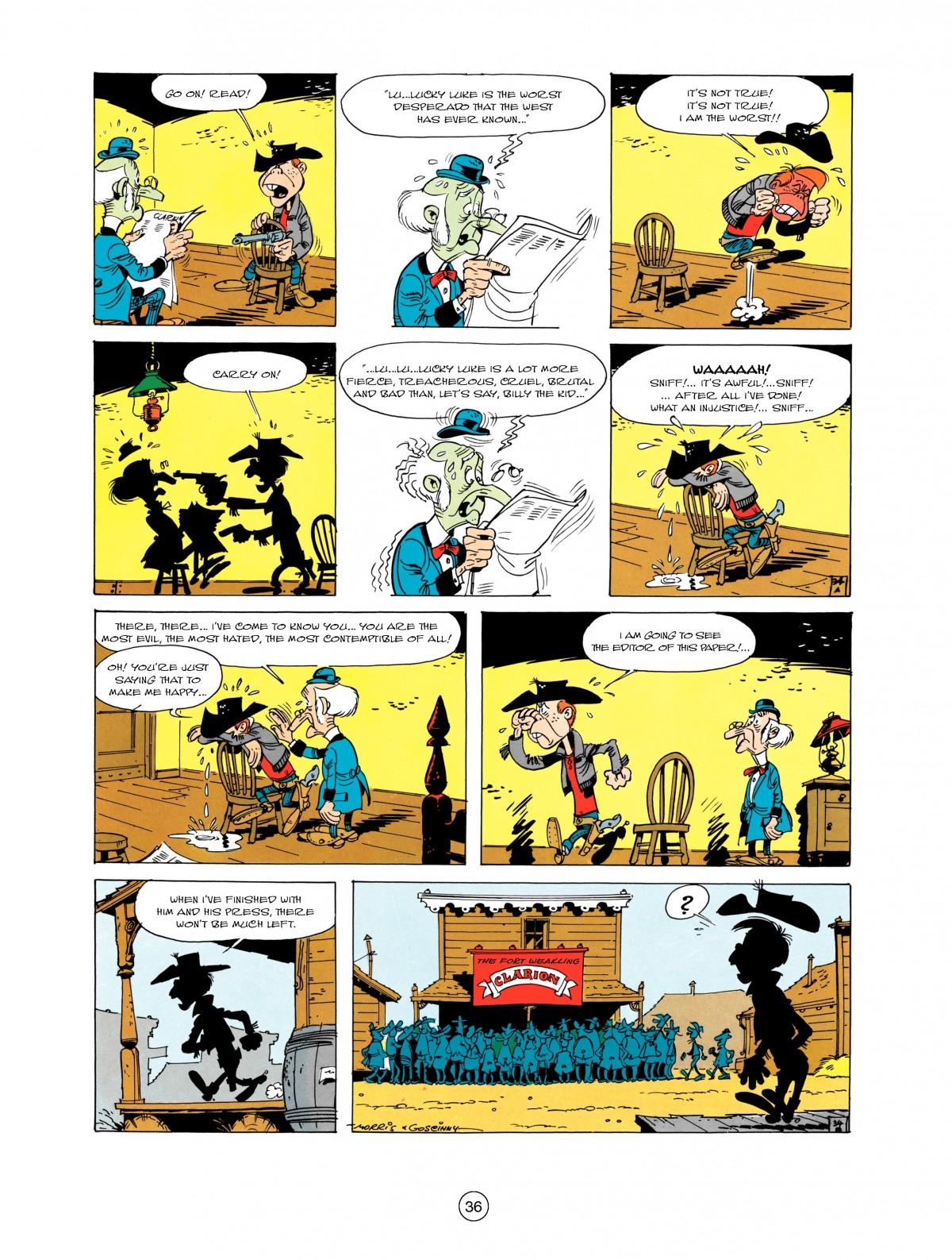 Read online A Lucky Luke Adventure comic -  Issue #1 - 38