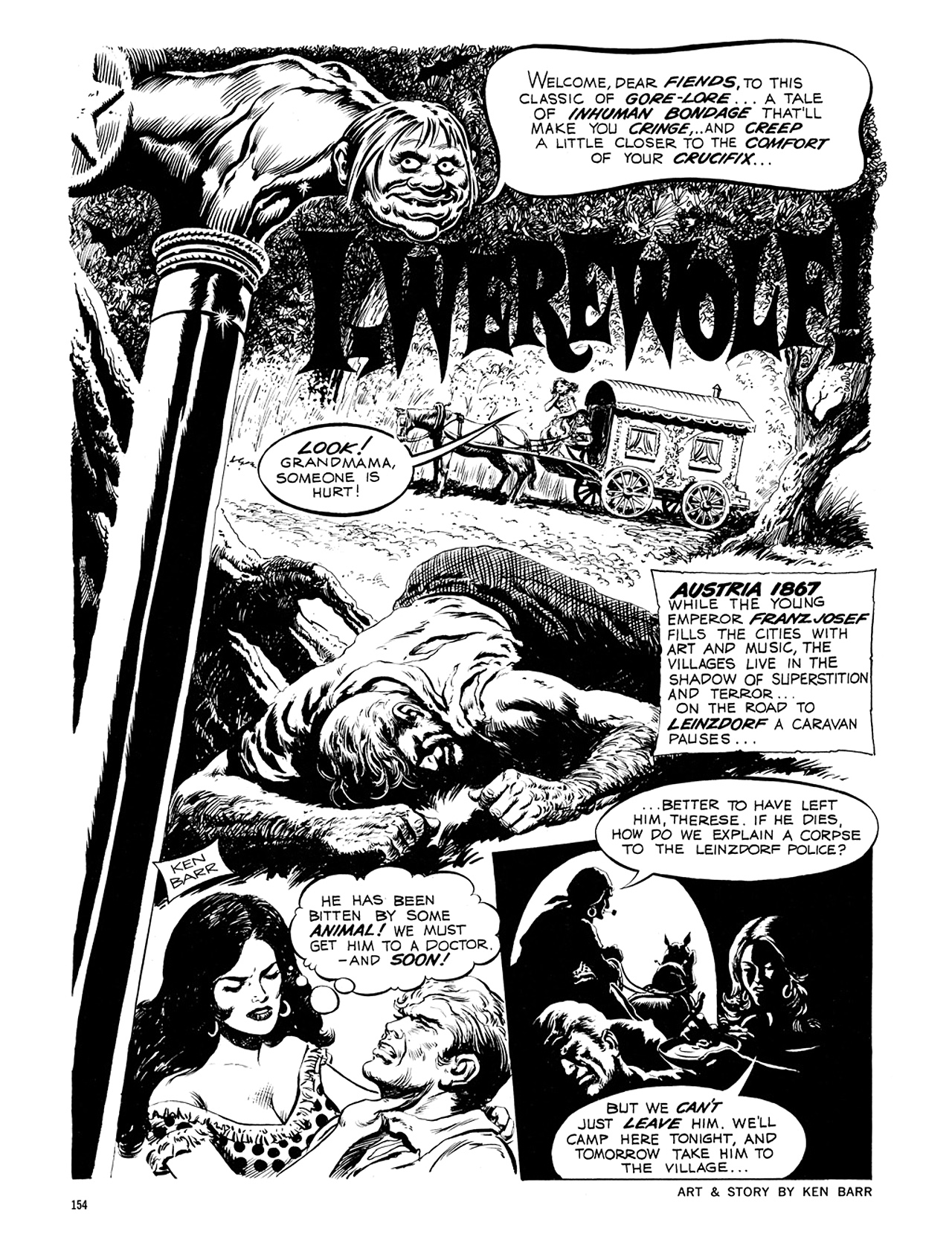 Read online Eerie Archives comic -  Issue # TPB 6 - 154