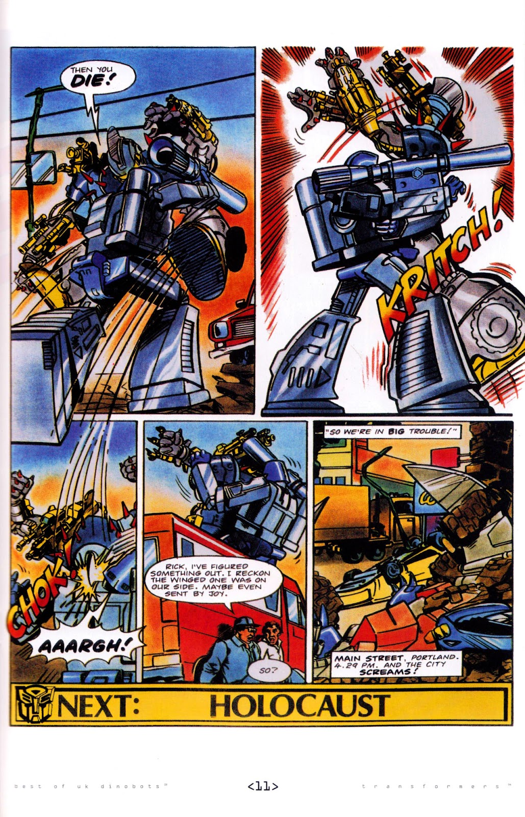 Read online The Transformers: Best of UK: Dinobots comic -  Issue #5 - 13