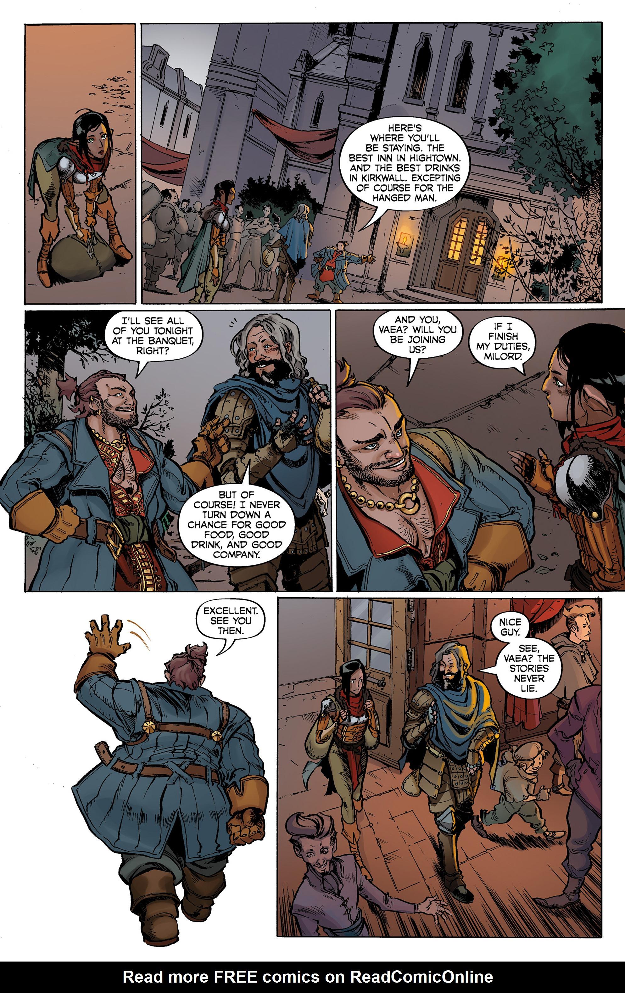 Read online Dragon Age: Knight Errant comic -  Issue #1 - 9