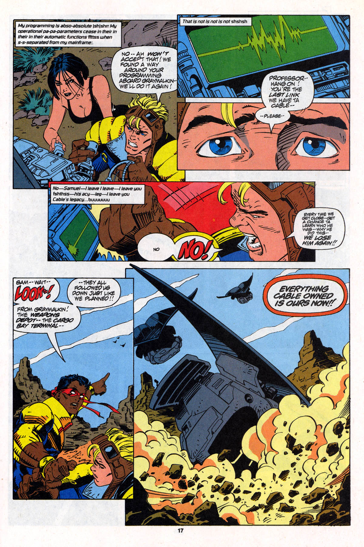 Read online X-Force (1991) comic -  Issue #22 - 18