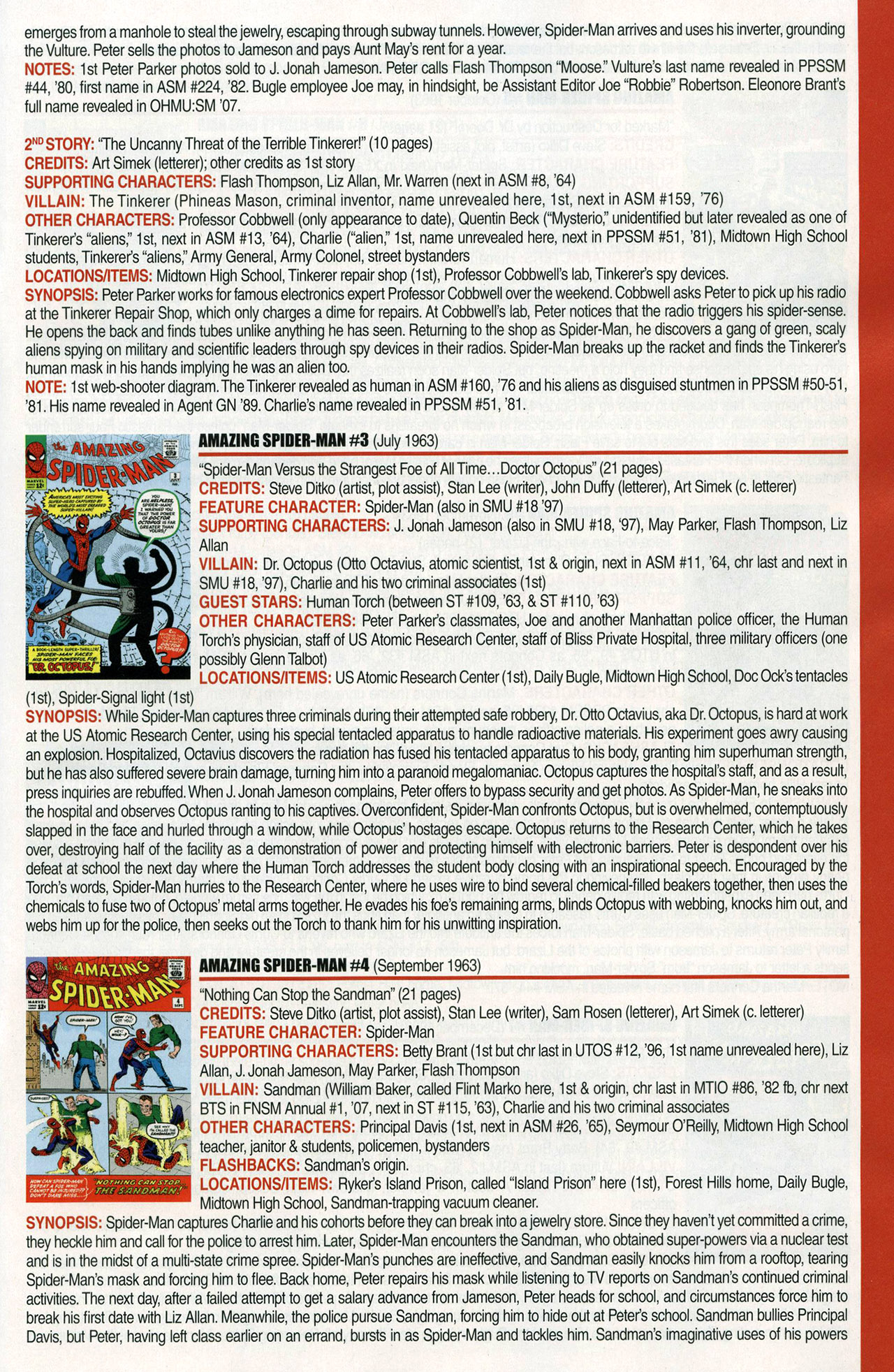 Read online Official Index to the Marvel Universe comic -  Issue #1 - 5
