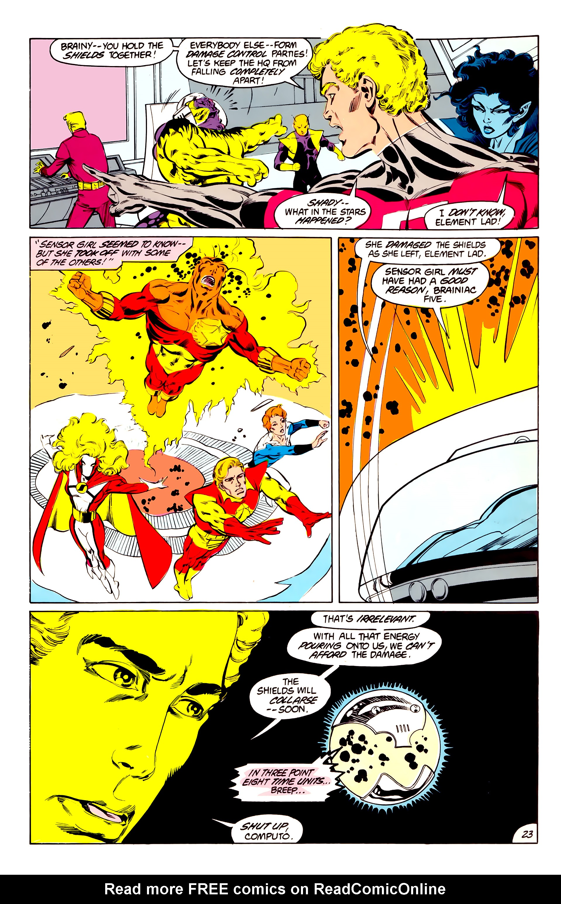 Legion of Super-Heroes (1984) 40 Page 23