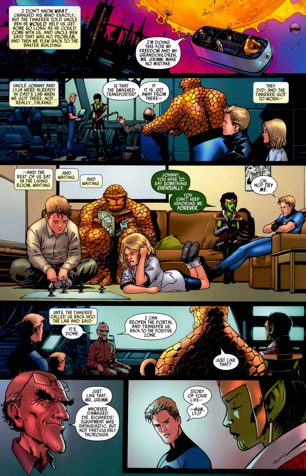 Read online Secret Invasion: Fantastic Four comic -  Issue #3 - 20