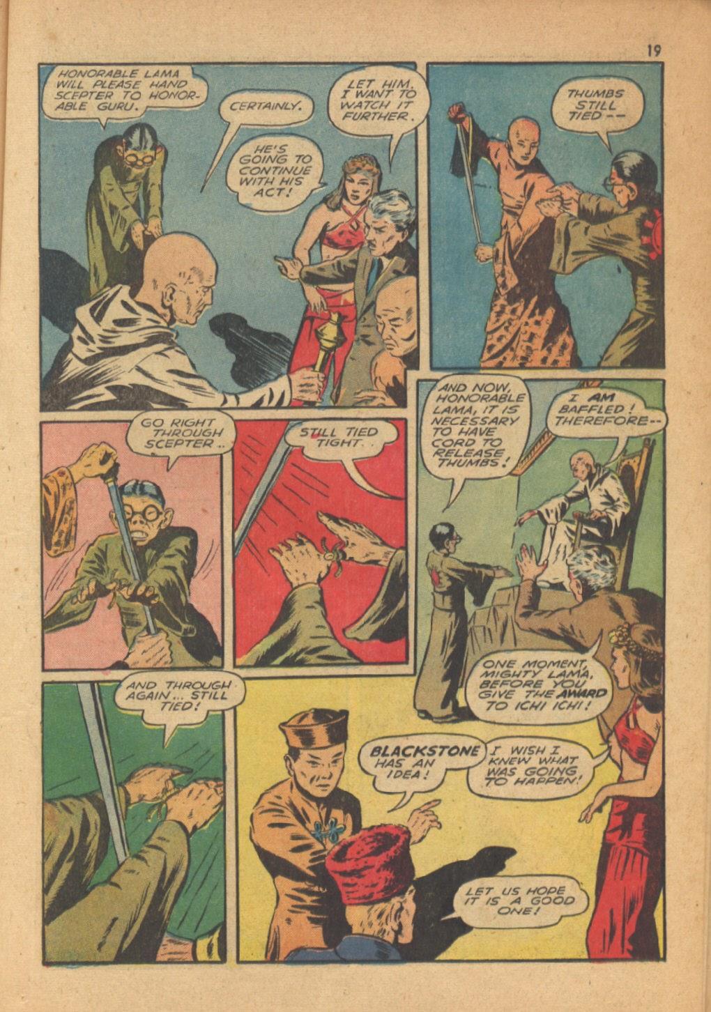 Read online Super-Magician Comics comic -  Issue #13 - 19