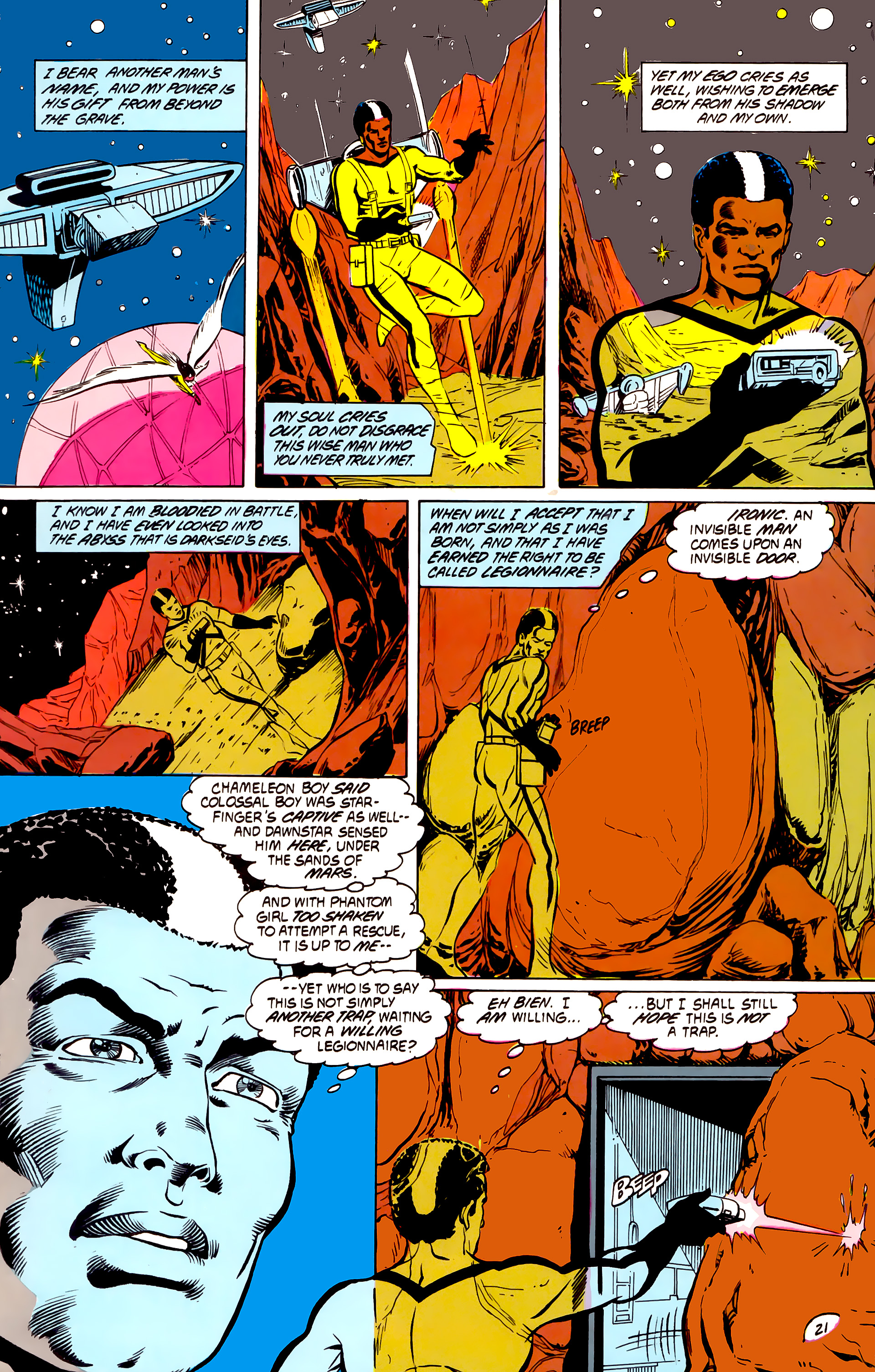 Legion of Super-Heroes (1984) _Annual_4 Page 21