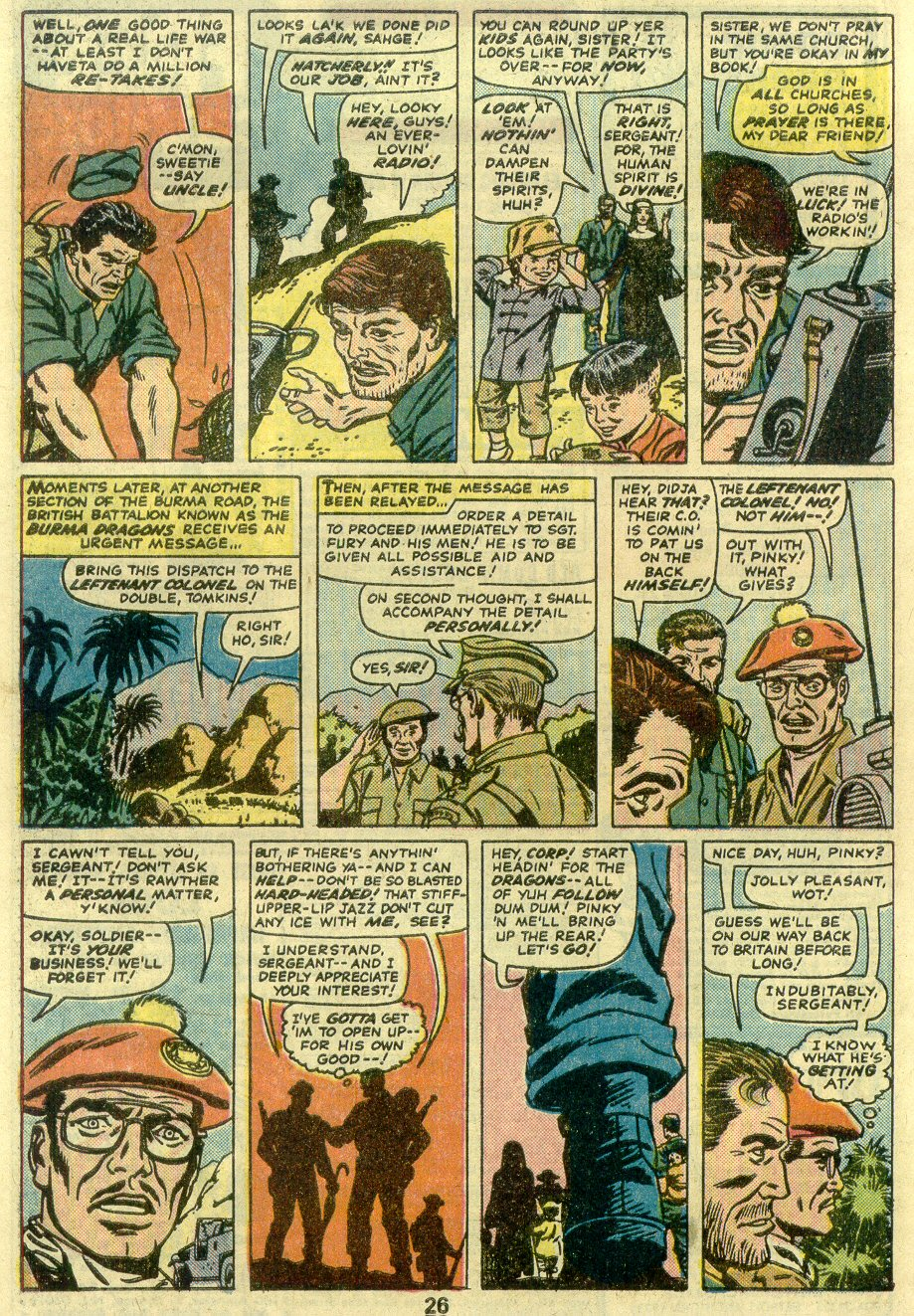 Read online Sgt. Fury comic -  Issue #125 - 28