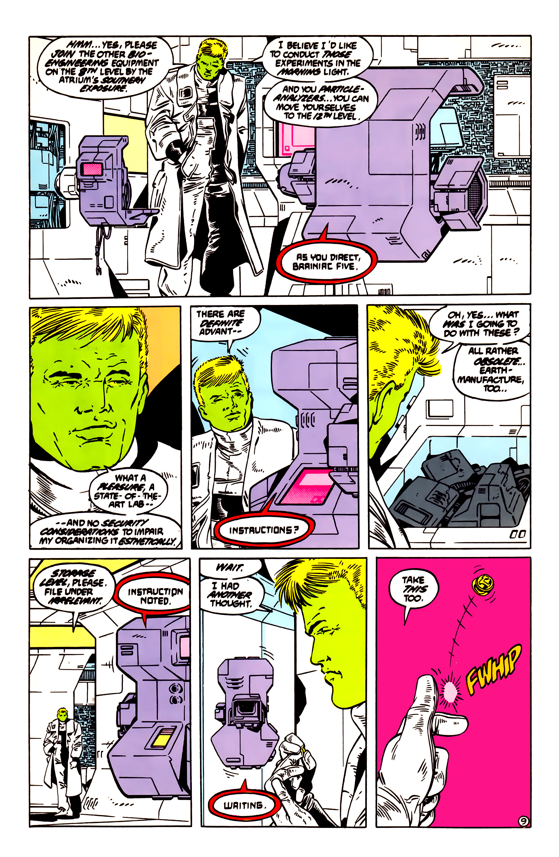 Legion of Super-Heroes (1984) 55 Page 9