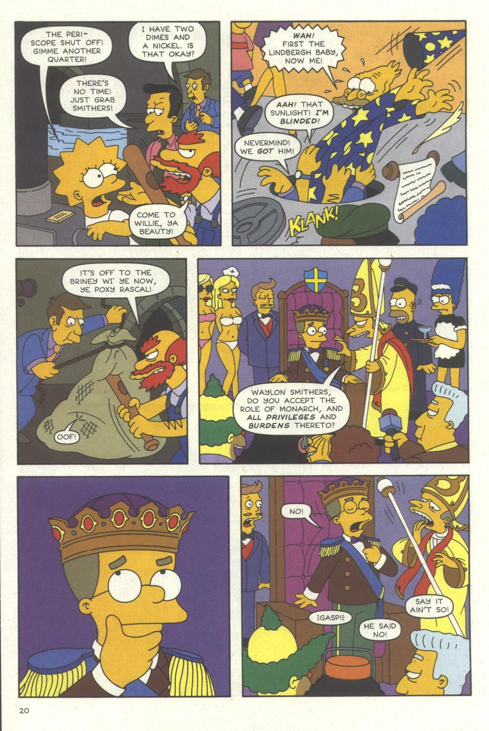 Read online Simpsons Comics comic -  Issue #56 - 21