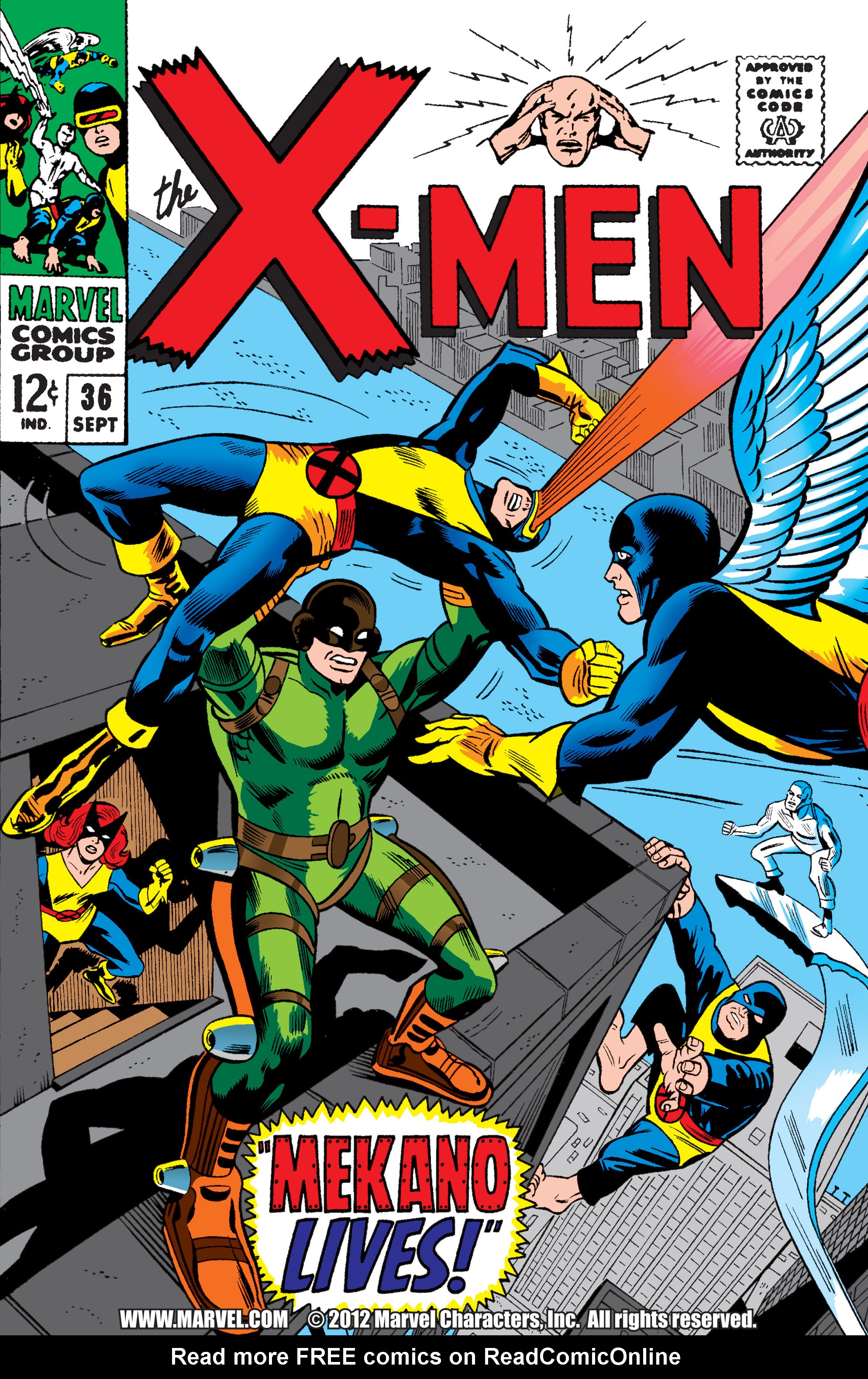Read online Uncanny X-Men (1963) comic -  Issue #36 - 1