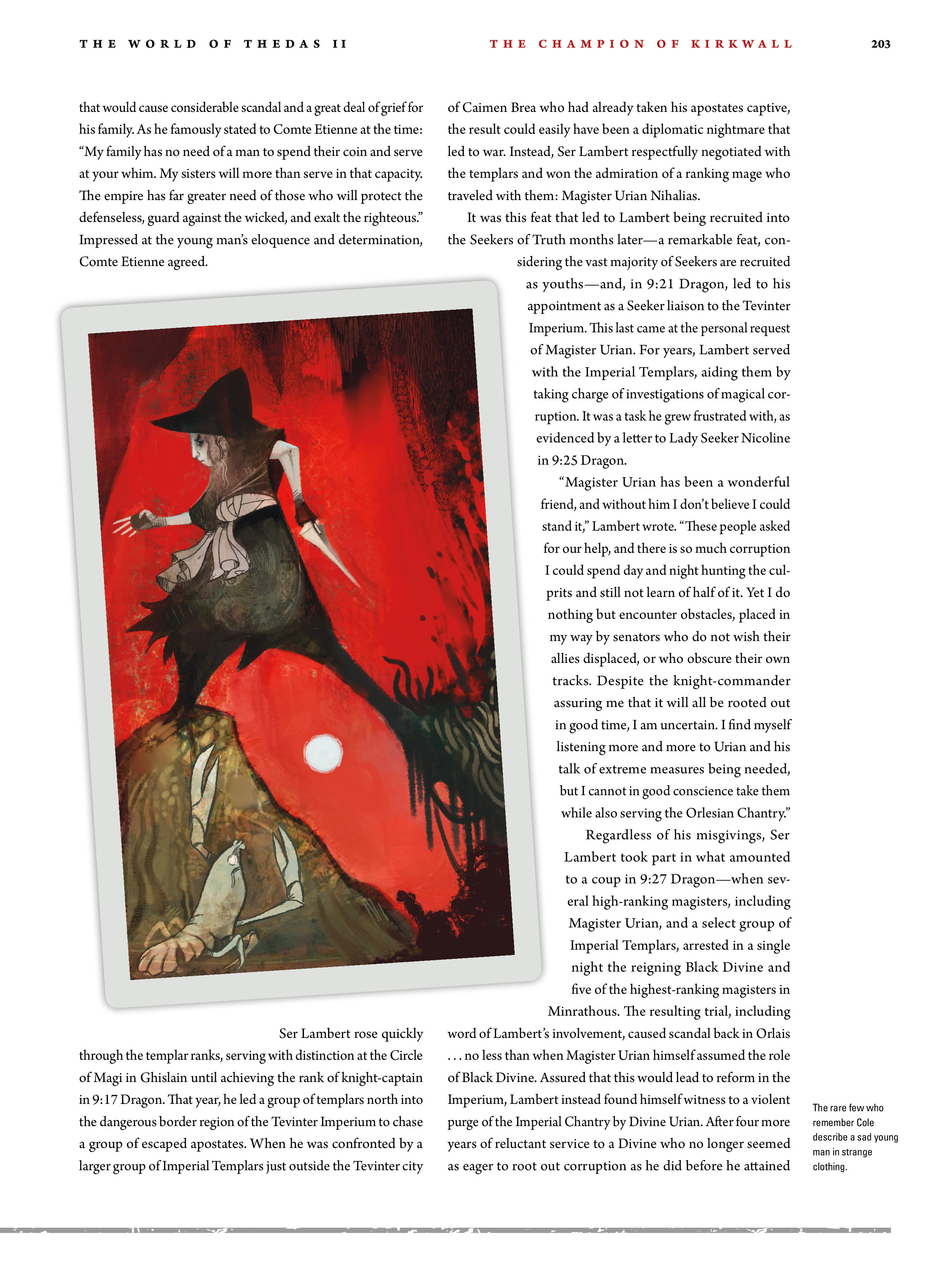Read online Dragon Age: The World of Thedas comic -  Issue # TPB 2 - 198