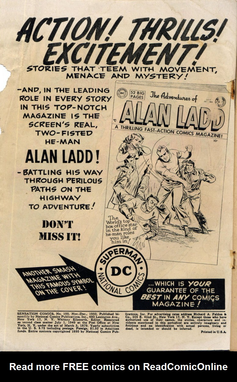 Read online Sensation (Mystery) Comics comic -  Issue #100 - 2