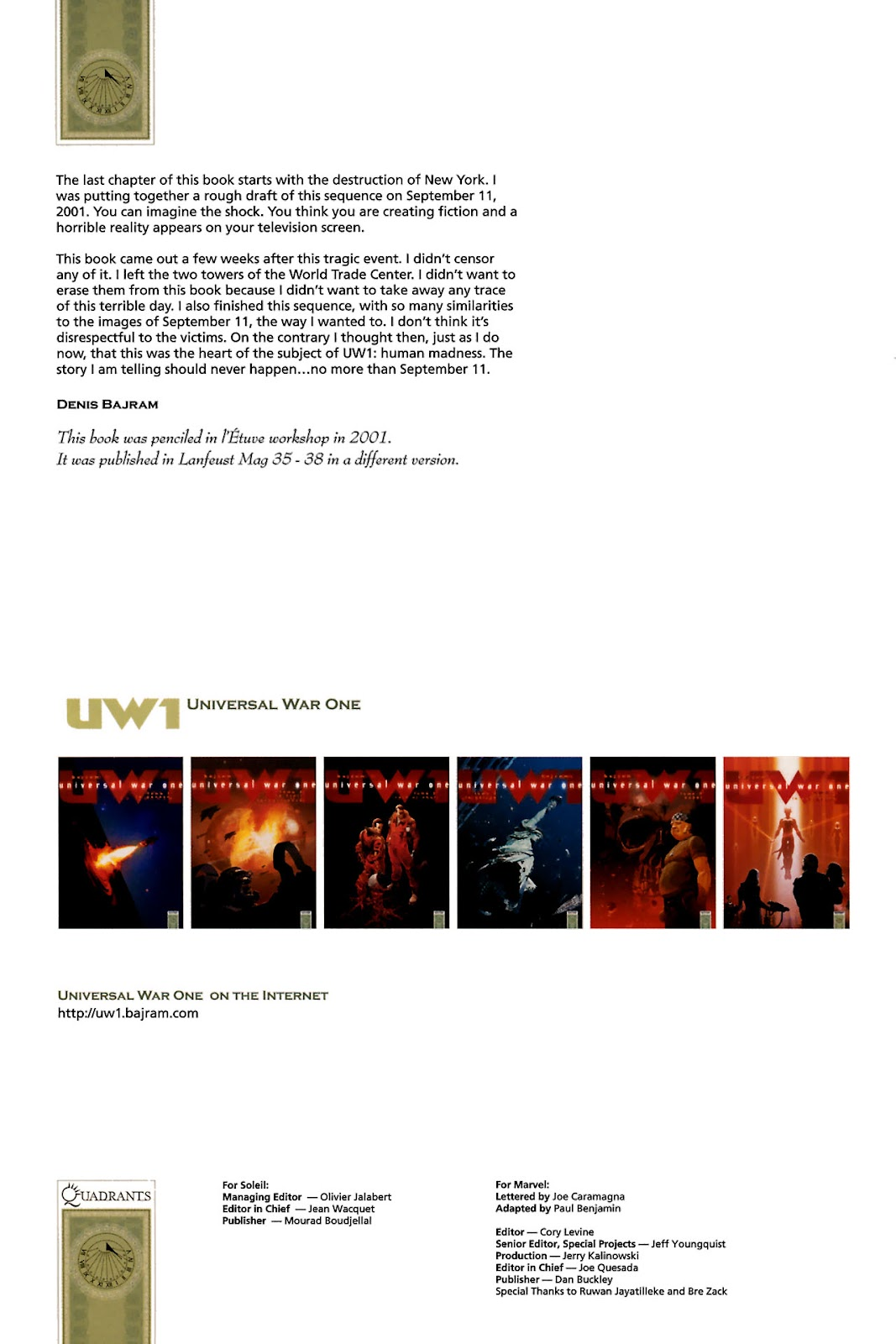 Read online Universal War One: Revelations comic -  Issue #1 - 5